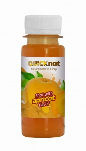 Shot with apricot flavor