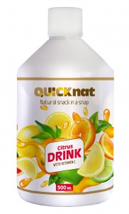 Citrus drink enriched with ingredients that improve health, positively affect the well-being and condition of the skin